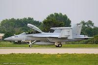 166928 @ KOSH - EA-18G Growler 166928 NJ-524 from VAQ-129 Vikings  NAS Whidbey Island, WA - by Dariusz Jezewski www.FotoDj.com