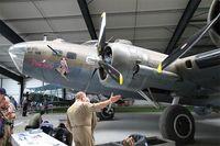 F-AZDX @ LFFQ - Boeing B-17G Flying Fortress, Static display, La Ferté-Alais airfield (LFFQ) Air show 2015 - by Yves-Q