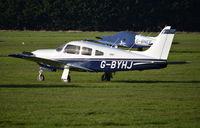 G-BYHJ @ EGLM - Piper PA-28R-201 Cherokee Arrow III at White Waltham. Ex N41675