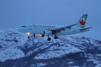 C-FZUL @ CYXY - On final to Whitehorse, Yukon, at 16:07, exactly 20 minutes after sunset. - by Murray Lundberg