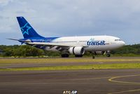 C-GLAT @ TFFR - A310-308 arriving in Guadeloupe - by atc.gp