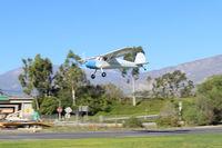 N1704V @ SZP - 1948 Cessna 140, Continental C-85-12 85 Hp, on final again Rwy 22 - by Doug Robertson
