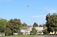 N1704V @ SZP - 1948 Cessna 140, Continental C-85-12 85 Hp, on final Rwy 22 - by Doug Robertson