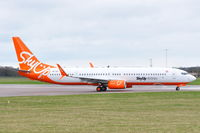 OE-IDZ @ EGSH - Leaving Norwich for Lasham with SkyUp colour scheme. - by keithnewsome