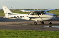 G-SHWK @ EGSH - Departing the SaxonAir ramp following a few days' visit from Cambridge (CBG). - by Michael Pearce