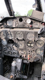 14 - the remains of the front seat cockpit - by olivier Cortot