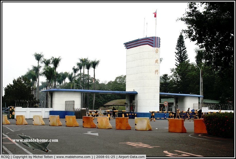 RCSQ Airport - Main entrance of the Air Base