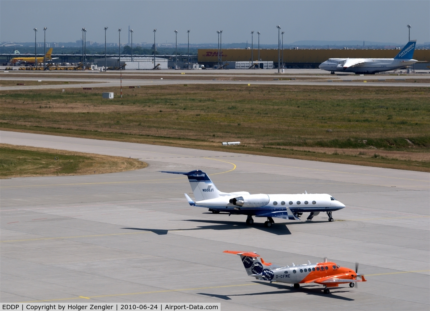Leipzig/Halle Airport, Leipzig/Halle Germany (EDDP) - View on small and large aircrafts...