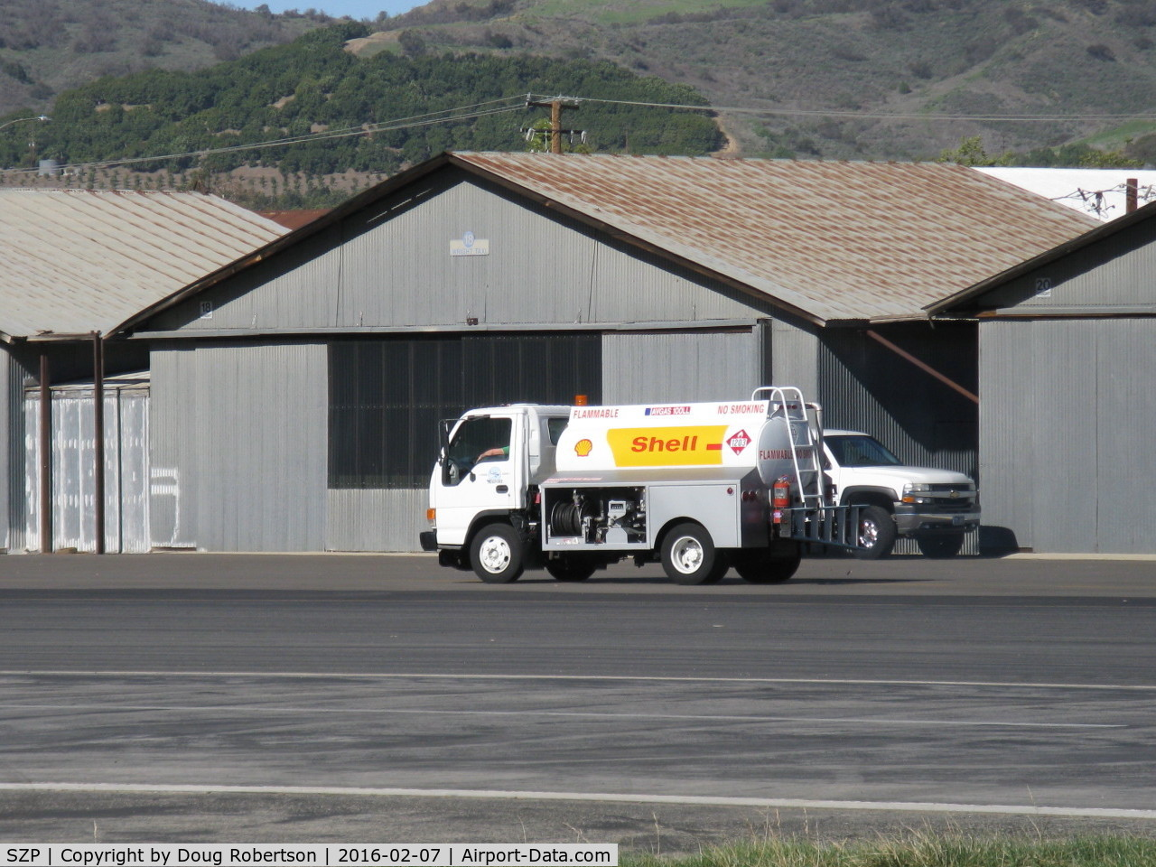 Santa Paula Airport (SZP) - On call to refuel a based helicopter remotely away from SZP's Fuel Dock