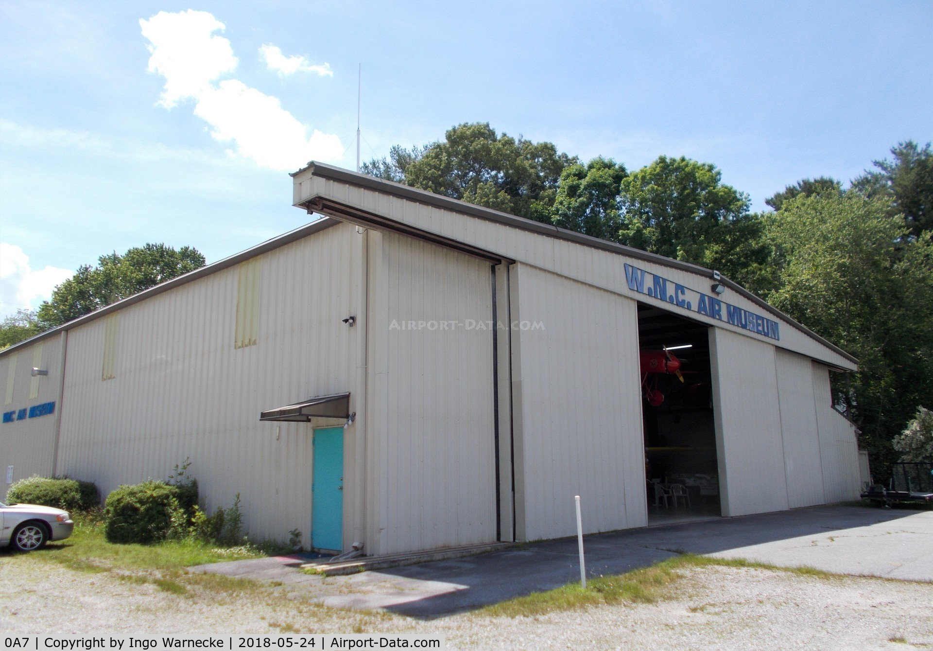 Hendersonville Airport (0A7) - the hangar of the Western North Carolina Air Museum at Hendersonville airport, Hendersonville NC