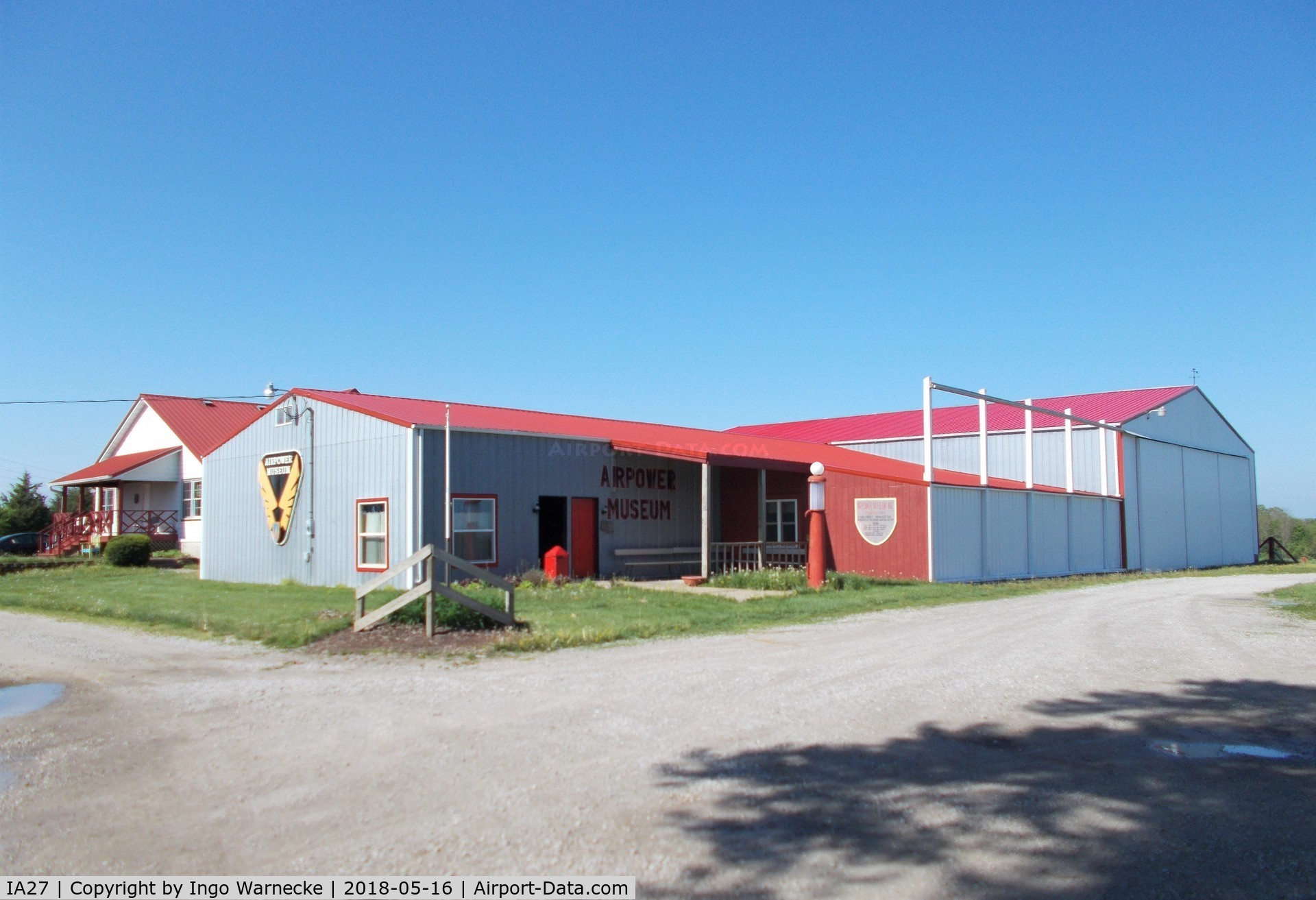Antique Airfield Airport (IA27) - hangar of the Airpower Museum at Antique Airfield, Blakesburg IA
