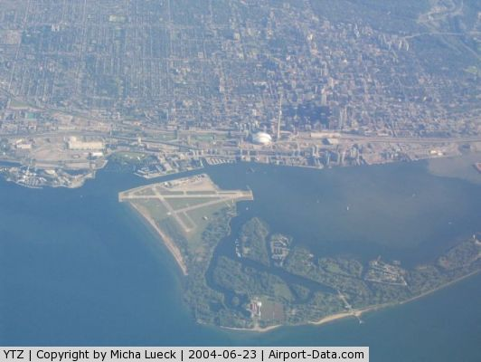 Toronto City Centre Airport, Toronto, Ontario Canada (YTZ) - Nice view on Toronto's City Airport, CN Tower and Skydome