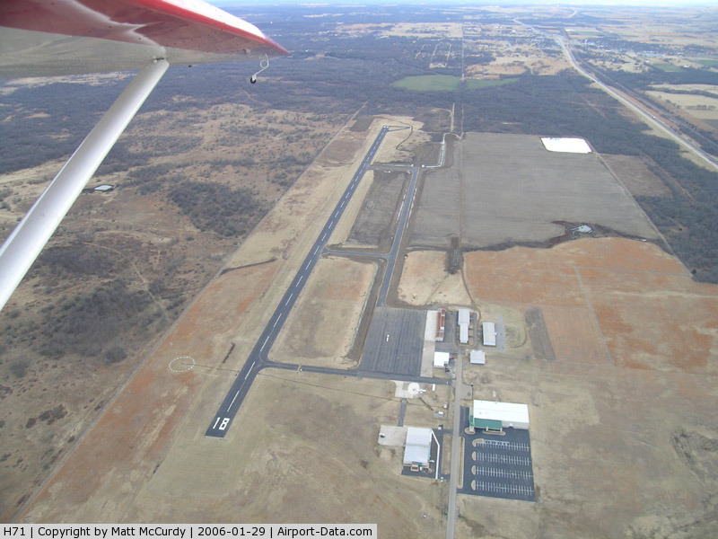 Mid-america Industrial Airport (H71) - The first stage of the new taxiways have been completed.