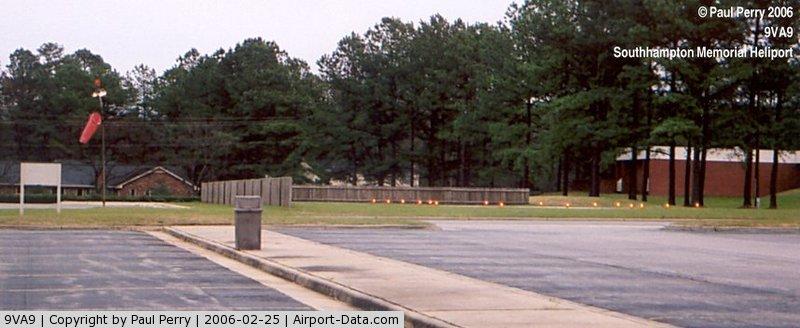Southampton Memorial Hospital Heliport (9VA9) - Perimeter lights just came on here in Franklin VA