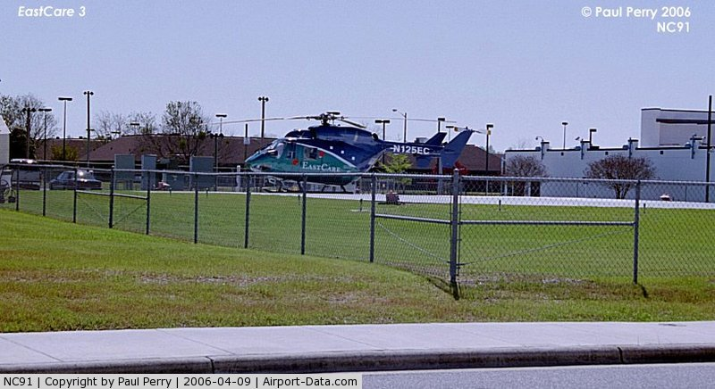 Pitt County Memorial Hospital Heliport (NC91) - Pitt County Memorial's newest helo, without her two sister ships