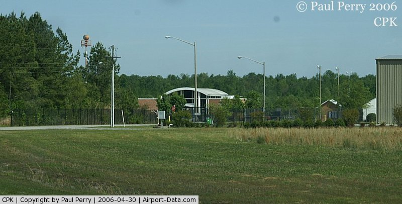 Chesapeake Regional Airport (CPK) - Long view of the terminal/admin building here.