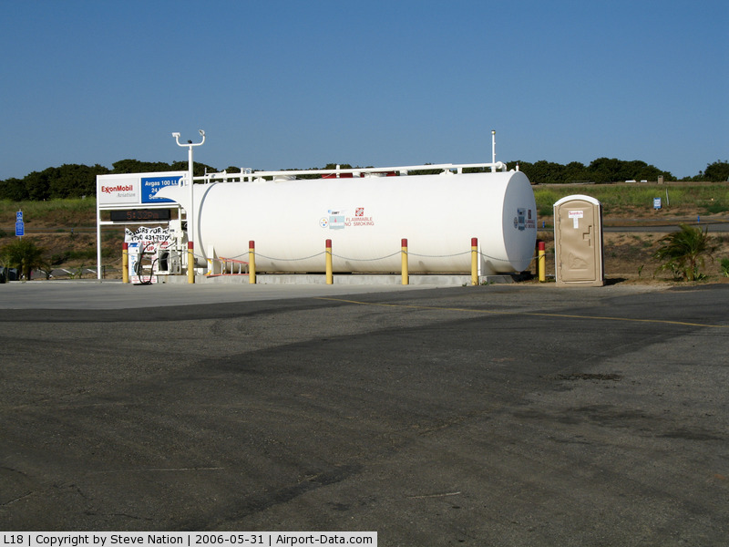 Fallbrook Community Airpark Airport (L18) - Gas tanks and pumps @ Fallbrook Community Airpark Airport, CA