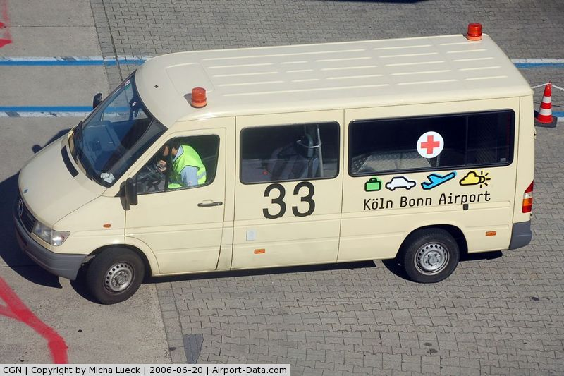 Cologne Bonn Airport, Cologne/Bonn Germany (CGN) - Special vehicle for disabled people transfer to/from the aircraft