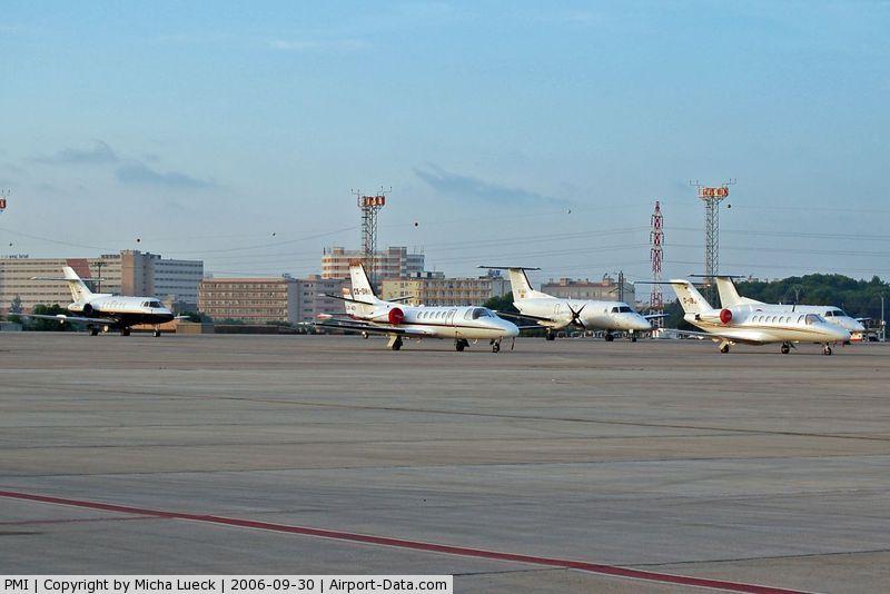 Palma de Mallorca Airport (or Son Sant Joan Airport), Palma de Mallorca Spain (PMI) - Parked at an outer position at Palma de Mallorca