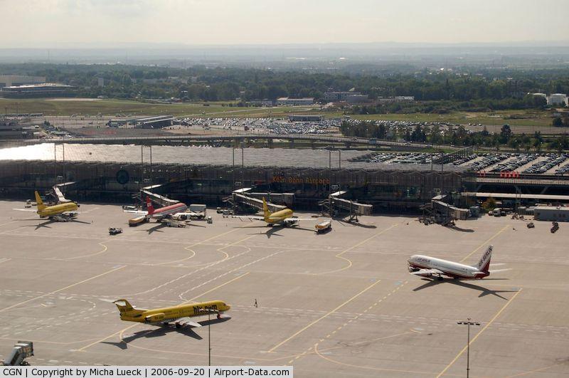 Cologne Bonn Airport, Cologne/Bonn Germany (CGN) - Busy apron in Cologne/Bonn