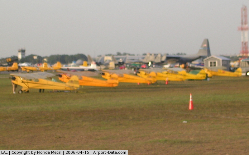 Lakeland Linder Regional Airport (LAL) - J3 Cubs lined up