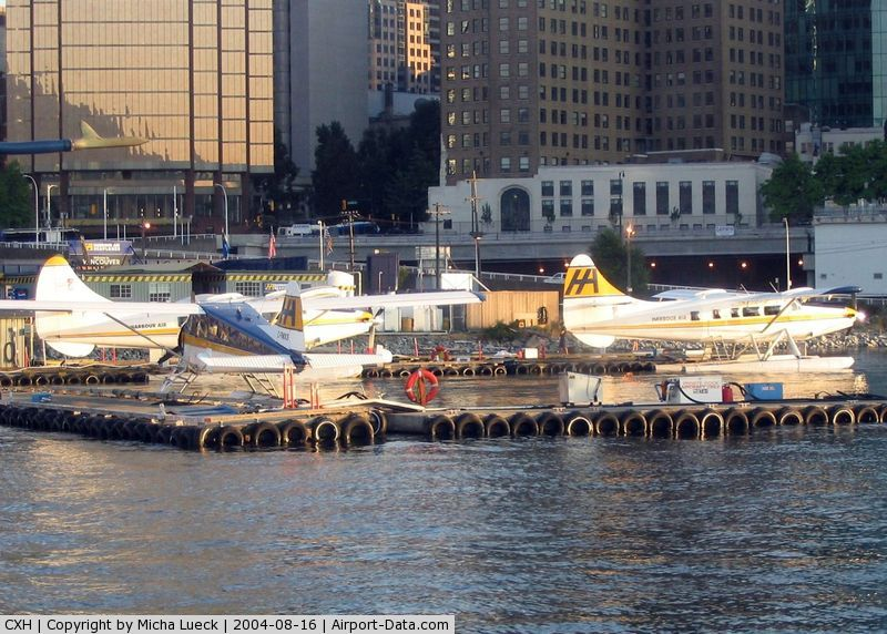 Vancouver Harbour Water Airport (Vancouver Coal Harbour Seaplane Base), Vancouver, British Columbia Canada (CXH) - Evening sun on the terminal of Harbour Air in Vancouver's Coal Harbour