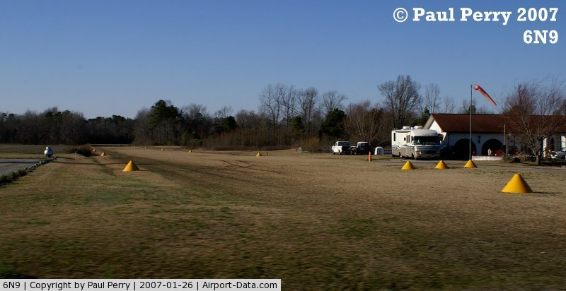 Eagles Nest Airport (6N9) - The runway, with marker cones at Eagles Nest
