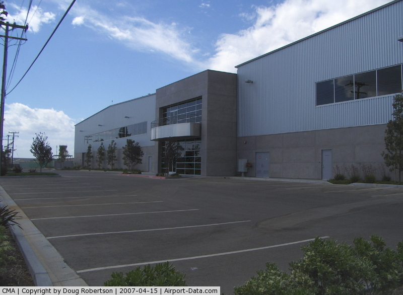 Camarillo Airport (CMA) - New FBO Office and Large Hangars-Completed