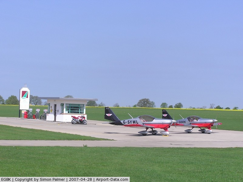 Sywell Aerodrome Airport, Northampton, England United Kingdom (EGBK) - General view of Sywell airfield