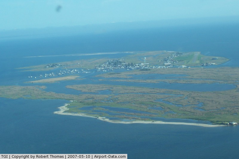 Tangier Island Airport (TGI) - Most of TGI, runway 20 to the right