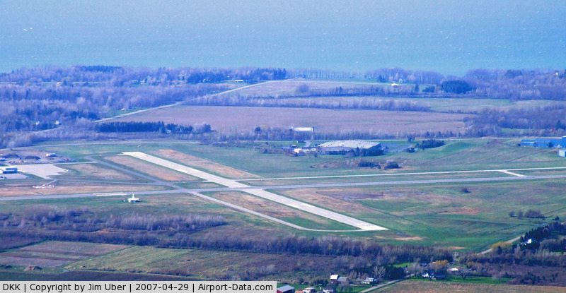 Chautauqua County/dunkirk Airport (DKK) - Lake Erie in the background