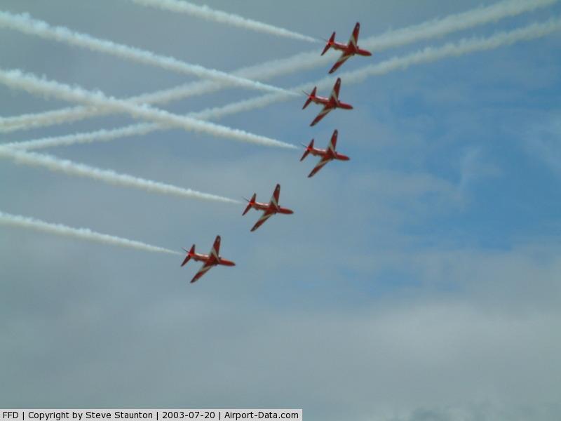 RAF Fairford Airport, Fairford, England United Kingdom (FFD) - Red Arrows @ Royal International Air Tattoo 2003
