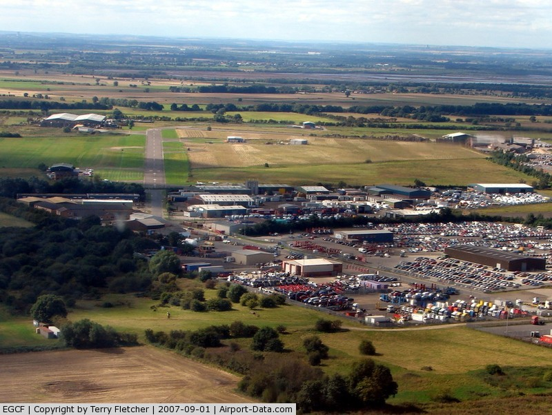 Sandtoft Airfield Airport, Scunthorpe, England United Kingdom (EGCF) - The Car Storage Depot makes this an easy airfield to find