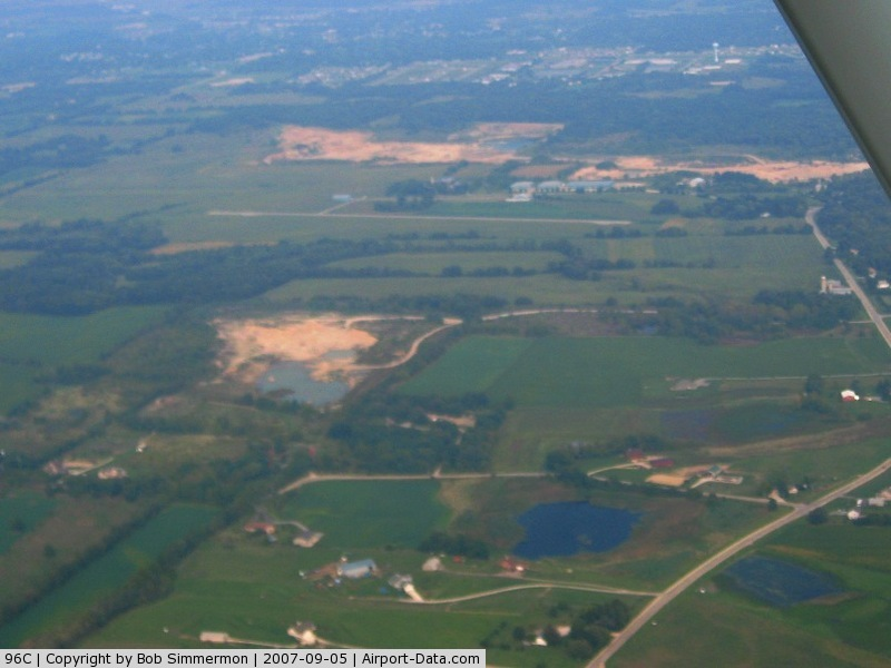 Fox River Airport (96C) - Looking east from 3500'
