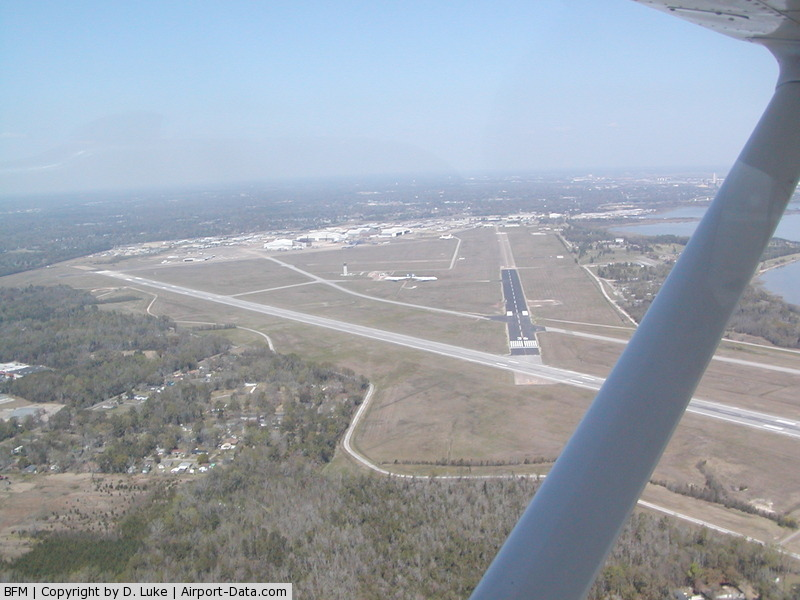 Mobile Downtown Airport (BFM) - Approach end of RWY 36