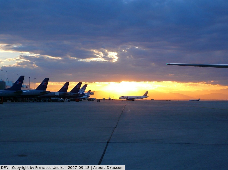 Denver International Airport (DEN) - A Colorado sunset.