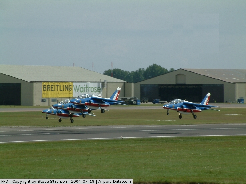 RAF Fairford Airport, Fairford, England United Kingdom (FFD) - Patrouille de France displaying at RIAT Fairford 2004