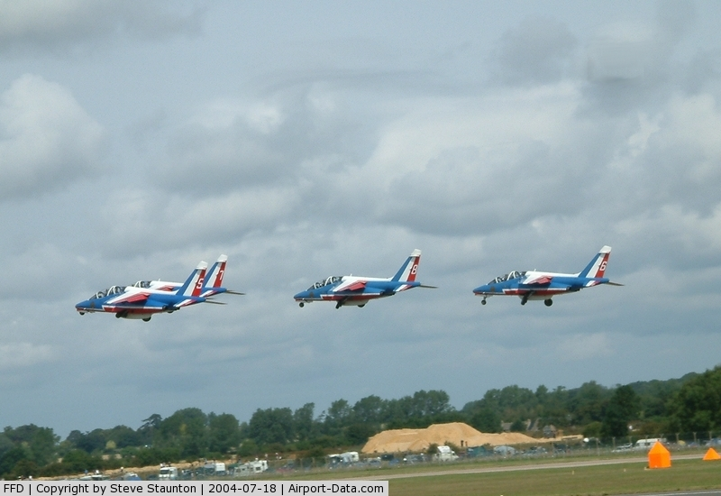RAF Fairford Airport, Fairford, England United Kingdom (FFD) - Patrouille de France displaying at RIAT Fairford 2004
