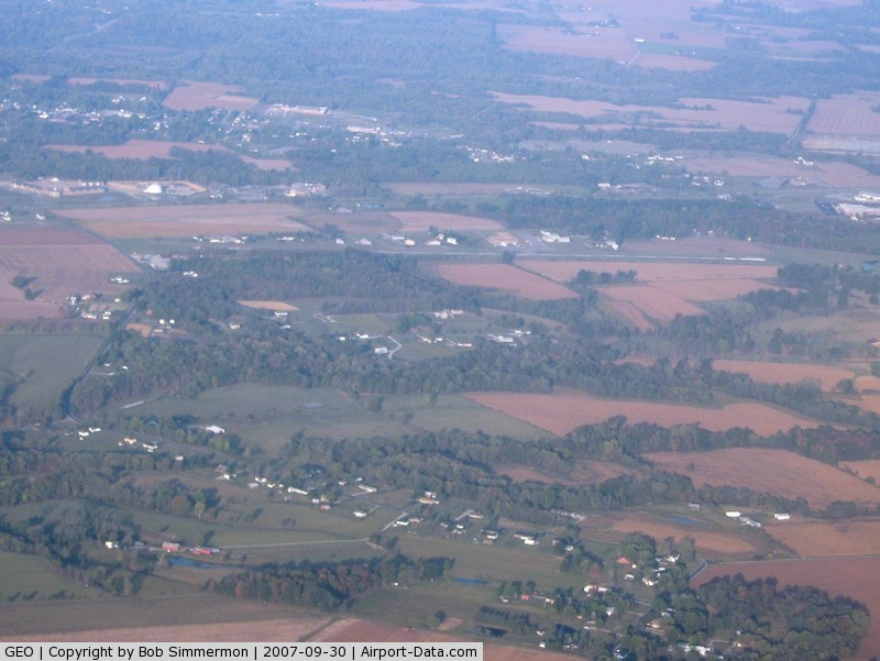 Brown County Airport (GEO) - Looking W from 5000'