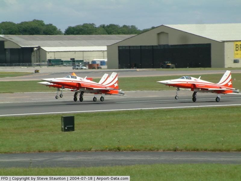 RAF Fairford Airport, Fairford, England United Kingdom (FFD) - Patrouille Suisse at Royal International Air Tattoo 2004