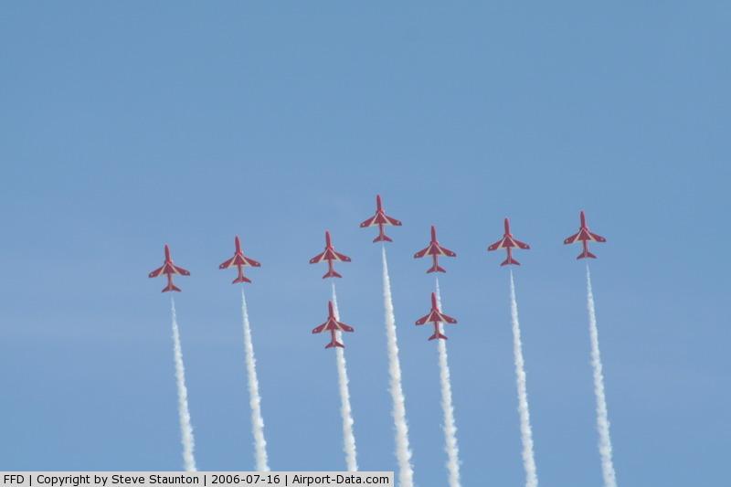 RAF Fairford Airport, Fairford, England United Kingdom (FFD) - The Red Arrows at Royal International Air Tattoo 2006
