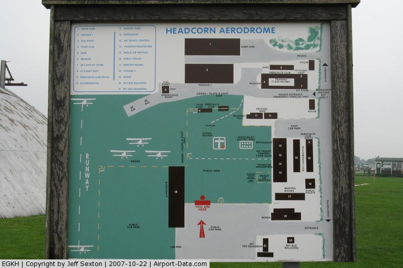 Lashenden/Headcorn Airport, Maidstone, England United Kingdom (EGKH) - Lashenden/Headcorn Information Board