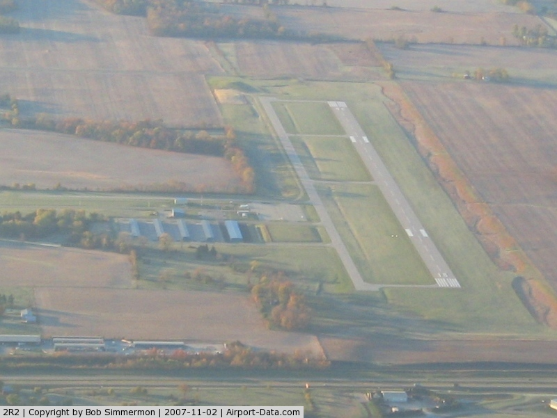 Hendricks County-gordon Graham Fld Airport (2R2) - From 4500' on a frosty fall morning