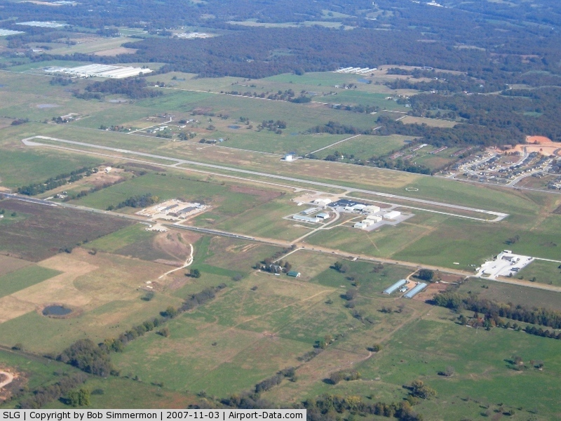 Smith Field Airport (SLG) - Looking east from 3500'