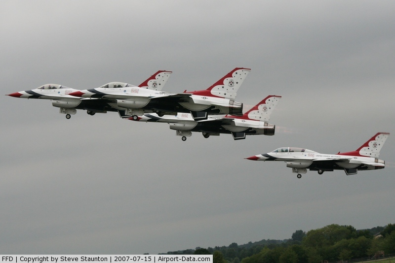 RAF Fairford Airport, Fairford, England United Kingdom (FFD) - Thunderbirds display at Royal International Air Tattoo 2007