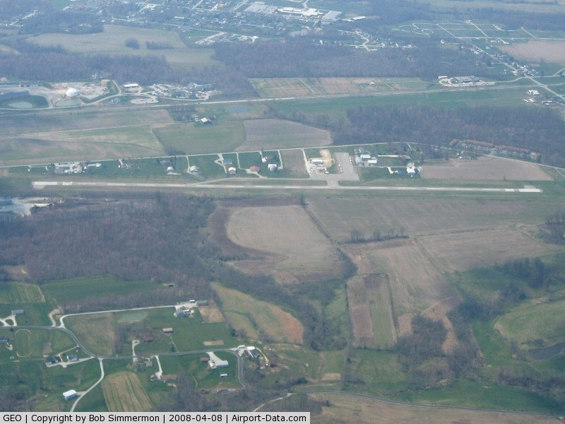 Brown County Airport (GEO) - Looking west from 5000'