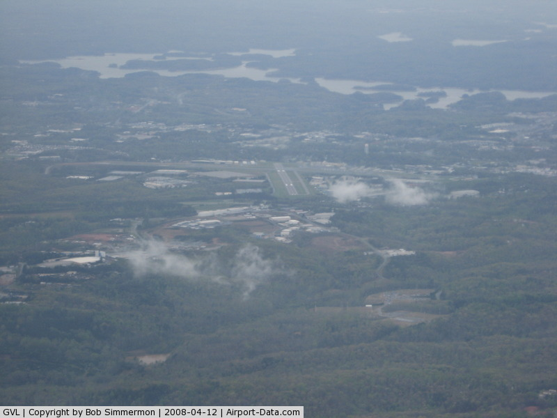 Lee Gilmer Memorial Airport (GVL) - Looking E from 9000'