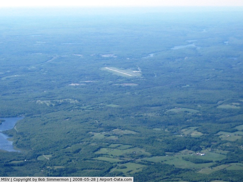 Sullivan County International Airport (MSV) - Easy to spot on a clear day.
