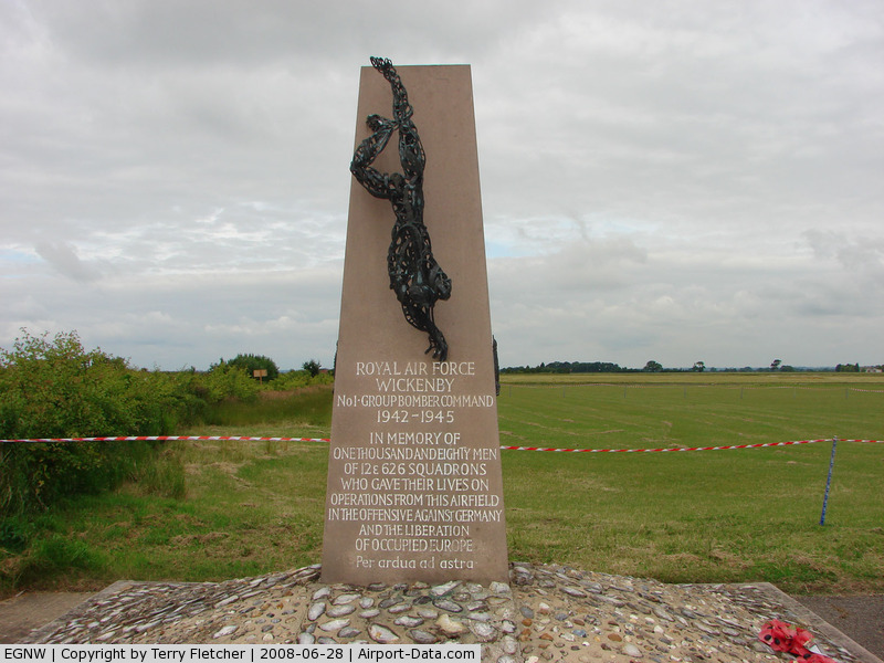 Wickenby Aerodrome Airport, Lincoln, England United Kingdom (EGNW) - RAF Wickenby War Memorial