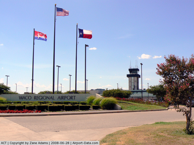 Waco Regional Airport (ACT) - Tower and terminal at Waco Regional